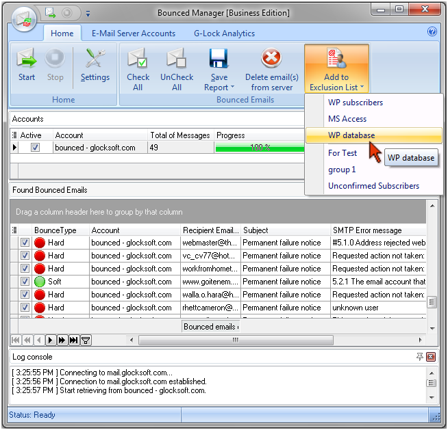 √ How to Process Bounced Emails with G-Lock EasyMail ® Bulk