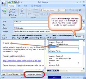 G-Lock EasyMail 6 Business Edition screenshot