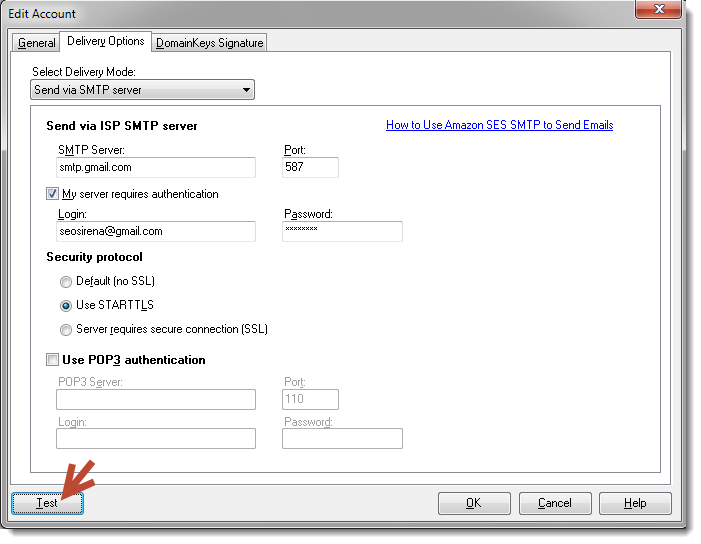 how to use Gmail SMTP settings in G-Lock EasyMail