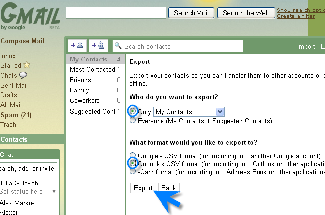 √ How to Export Your Gmail Contacts and Send Bulk Emails to